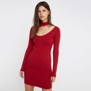 NWT Urban Outfitters Fran Cutout Ribbed Mini Dress